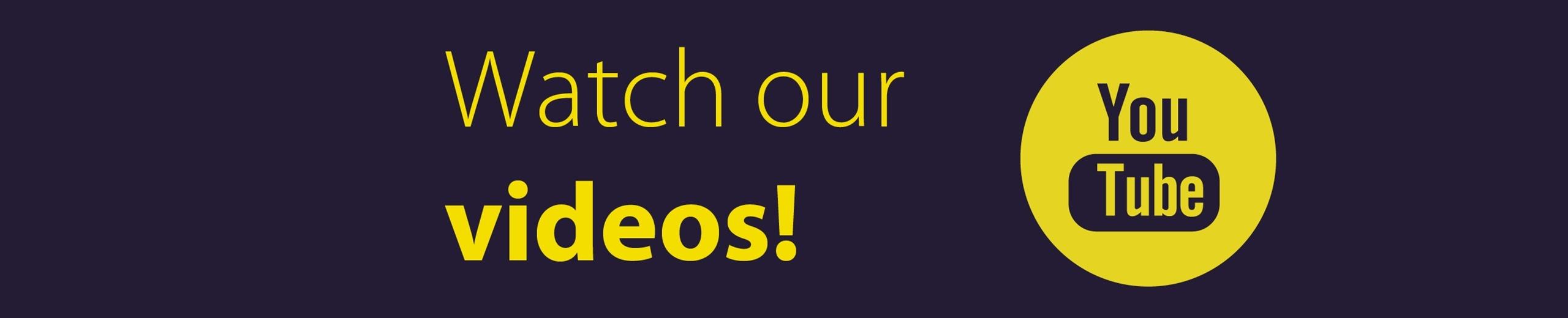Bekijk al onze video's op YouTube